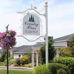 Country Pines sign